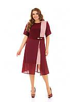 Платье масло трикотаж и креп шифонИндивидуальный пошив