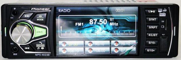 Автомагнитола Bluetooth, TFT-экраном размером 4,1 Pioneer 4023B + AV-in Видео вход