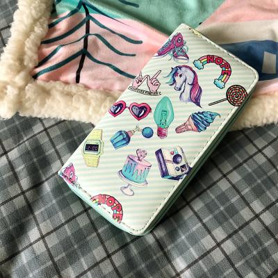 молодежный женский кошелек со стиками
