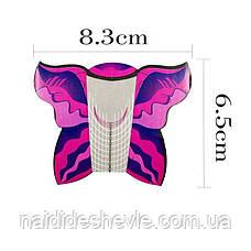 """Форми для нарощування нігтів """"Метелик"""" - рулон 300 шт. (8,3 * 6,5 див.), фото 3"""