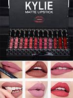 Набор матовых жидких помад 12 штук Kylie Matte Lipstick, фото 1