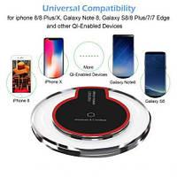 Адаптер для телефона беспроводной S6 QI wireless charger + переходник