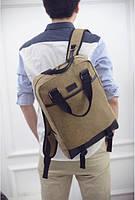 Вместительный мужской рюкзак из ткани., фото 1