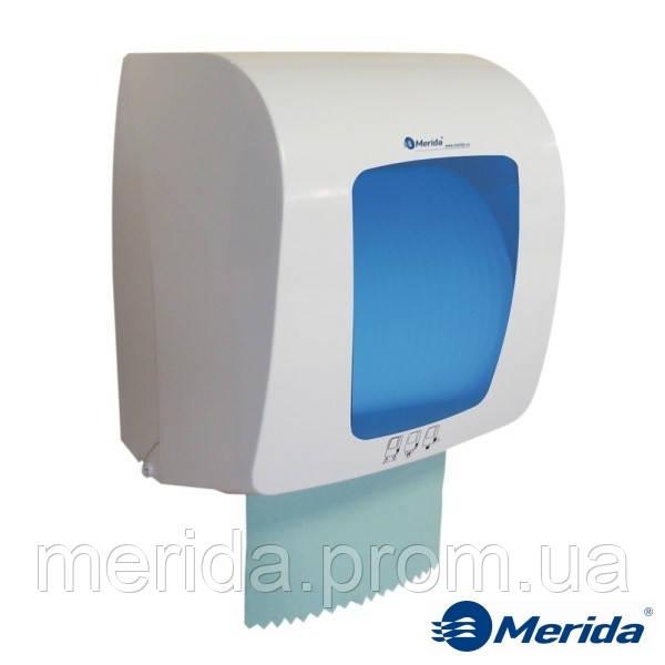 Механический диспенсер бумажных полотенец в рулонах MERIDA TOP MINI (синий), Канада