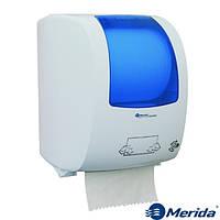 Механический диспенсер бумажных полотенец в рулонах MERIDA TOP MAXI (синий), Канада