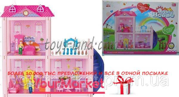 Домик 2-этаж,79деталей,фигурки,кровать,диван,кресла,стол,стулья...,OS9