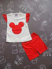 Детский летний костюм Минни для девочки на 3 - 6 месяцев