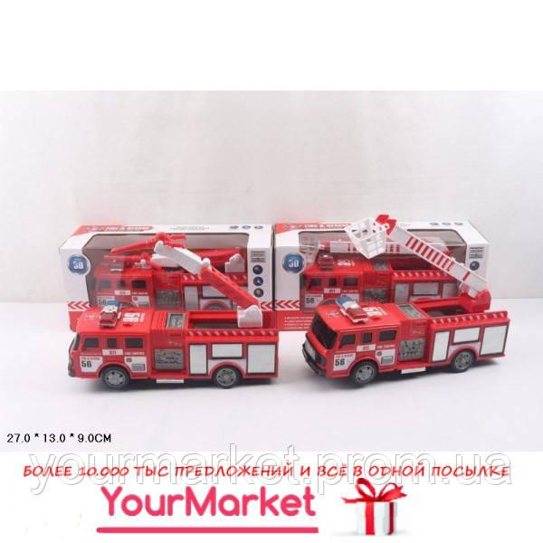 Пожарная техника батар. SD-023D/024D (48шт/2) 2 вида, в коробке 27*13*