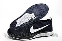 Беговые кроссовки в стиле Nike Flyknit Streak, Dark blue\White, фото 3