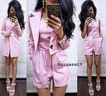 Женский стильный костюм: пиджак-трансформер и комбинезон (3 цвета), фото 5