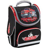Рюкзак каркасный, ортопедический, школьный Kite Firetruck K18-501S-1, фото 1