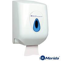 Держатель для бумажных полотенец в рулонах MAXI из ударопрочного ABS пластика MERIDA TOP (синяя капля), Англия, фото 1