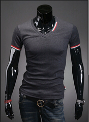 Мужская футболка черная, серая M-XХXL код 55