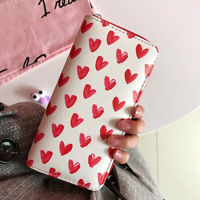 молодежный кошелек с сердечками