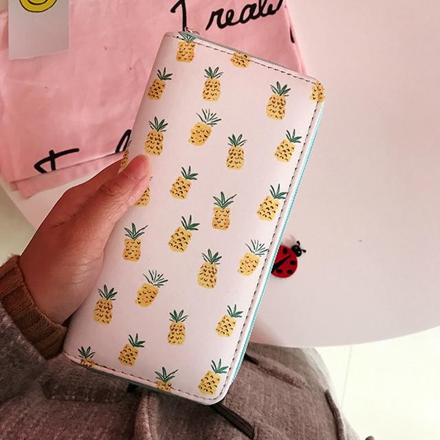 молодежный кошелек с ананасами