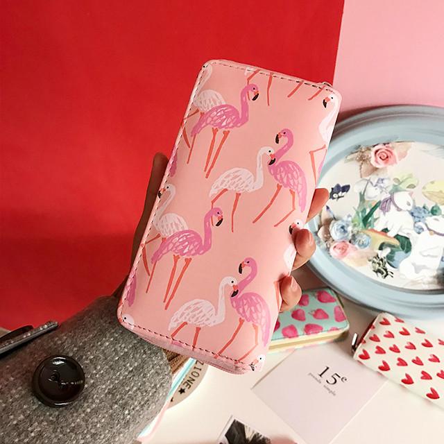 Молодежный кошелек с розовым фламинго