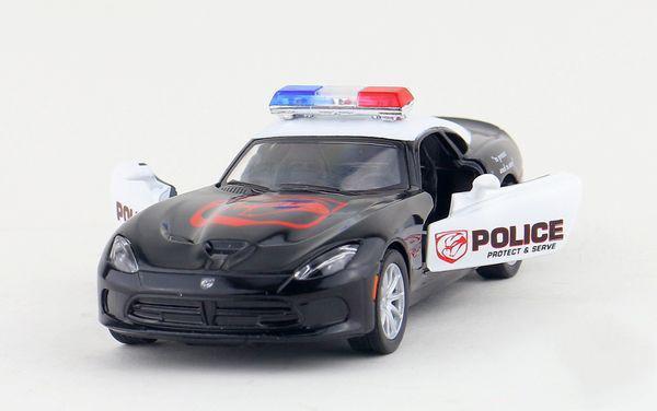 Машинка KT 5363 WP інерційна, металева, поліція, 1:36, Dodge SRT Viper GT, в коробці, 16-7,5-8 см