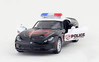 Машинка KT 5363 WP інерційна, металева, поліція, 1:36, Dodge SRT Viper GT, в коробці, 16-7,5-8 см, фото 1