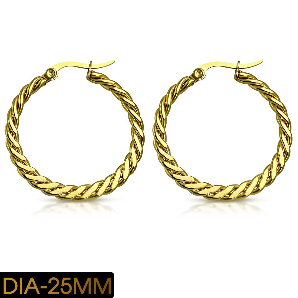 Сережки кільця (конго) 316 Steel GEO616-25