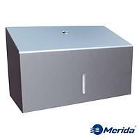 Диспенсер для бумажных полотенец из матовой нержавейки 250 шт. MERIDA STELLA MINI, Польша, фото 1