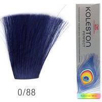 Стойкая крем-краска для волос WELLA 0/88 Koleston Синий 60 мл