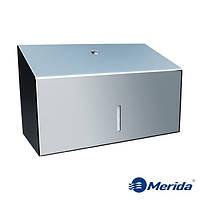 Диспенсер для бумажных полотенец из полированной нержавейки 250 шт. Merida Stella Mini, Польша, фото 1