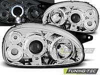 Фары передние, тюнинг оптика Opel Corsa В