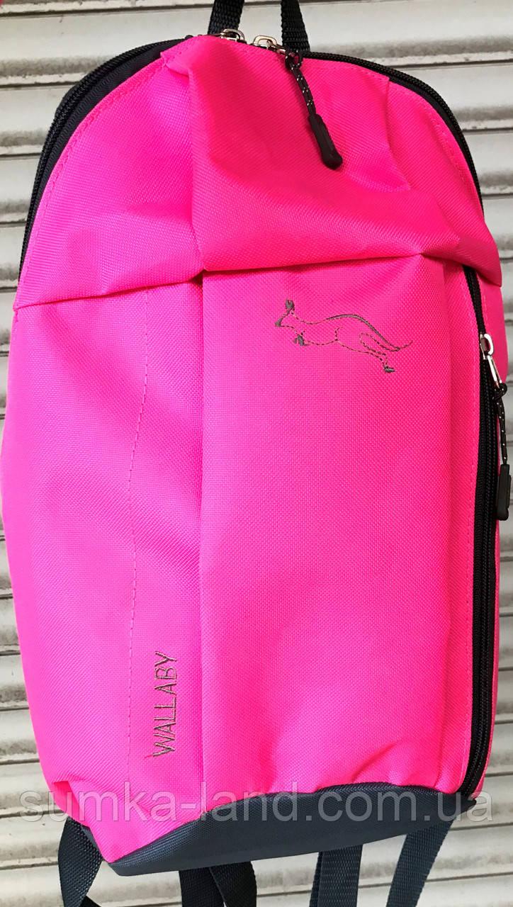 Городской розовый рюкзак Wallaby 18*38 см