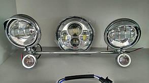 Комплект светодиодных фар для мотоцикла (круизеров)