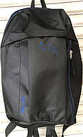 Городской черный рюкзак Wallaby 18*38 см, фото 1