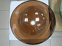 Умывальник накладной стеклянный круглый HR 3004 (420 мм)