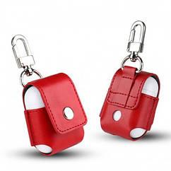 Чехол для AirPods Leather case красный