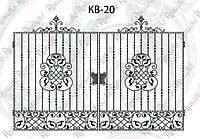Кованые распашные ворота 3600х2340(2000)