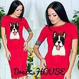 "Женское платье-футболка ""Собака"" в стиле Gucci (3 цвета), фото 2"
