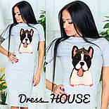 "Женское платье-футболка ""Собака"" в стиле Gucci (3 цвета), фото 3"