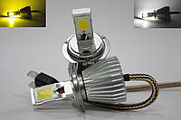Автолампы LED COB, H7, Dual Color, Двухцветная 3000/6000k