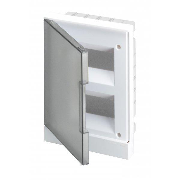Щит встраиваемый 16М прозрачная серая дверь BASIC E (BEF402216)