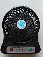 Аккумуляторный вентилятор настольный F002 с фонариком