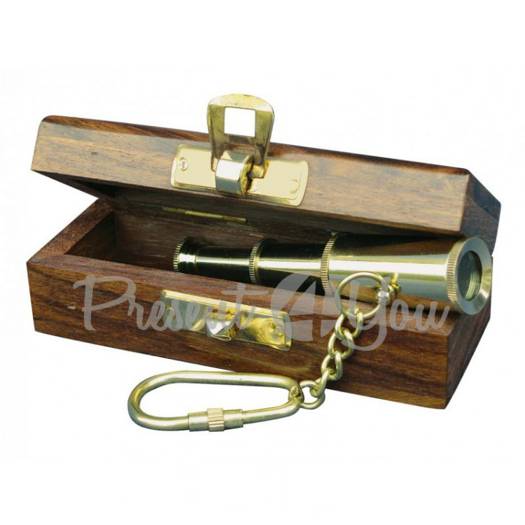 Брелок Подзорная труба в коробке Sea Club, 8 см (1054B.V)