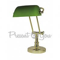 Лампа банкира (зеленая) Sea Club, h-36х43 см
