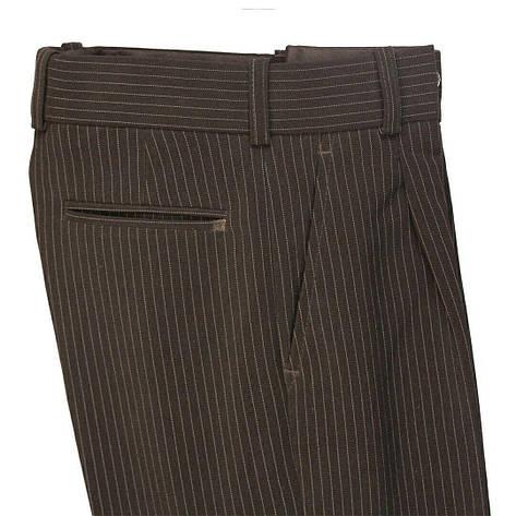 Школьные брюки для мальчика черные в полоску на резинке, фото 2