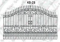 Распашные кованые ворота 4840х3220(2500) КВ-23