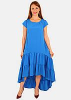 Летнее платье с воланами 46-52 р ( разные цвета )