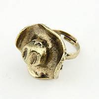 Женское кольцо из ювелирного сплава с кристаллом tez001568