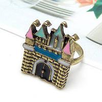 Женское кольцо из ювелирного сплава с кристаллом tez001569
