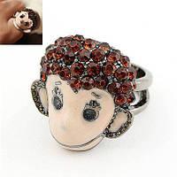 Женское кольцо из ювелирного сплава с кристаллом tez001570 D16.0