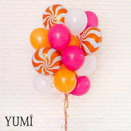 Яркий букет из 20 воздушных шариков на подарок для подруги, фото 2