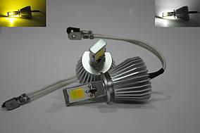Автолампы LED COB, H1, Dual Color, Двухцветная 3000/6000k