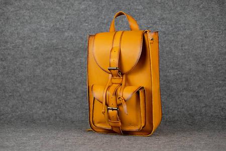 Рюкзак из натуральной кожи |11917| Италия | Янтарь