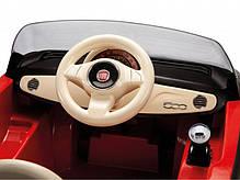 Детский Электромобиль Fiat 500 Red 6V c пультом, мощность 60W, фото 2